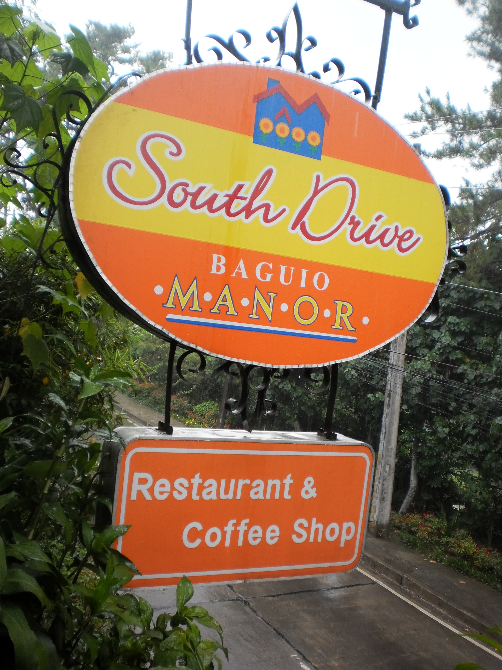 South Drive Baguio Manor signage